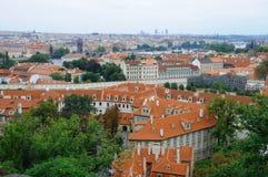 Mirada fija Mesto y Mala Strana de Praga Fotos de archivo libres de regalías