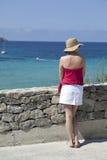 Mirada hacia fuera al mar Imagen de archivo