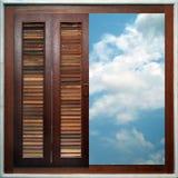 Mirada hacia fuera de la ventana Imagen de archivo libre de regalías