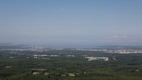 Mirada hacia fuera sobre Anchorage Fotografía de archivo libre de regalías