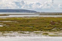Mirada hacia la isla del Wight Fotos de archivo