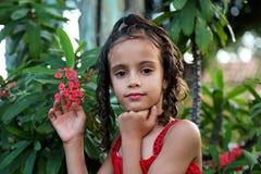 mirada hermosa de la muchacha Fotografía de archivo libre de regalías