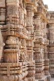 Mirada maravillosa de los pilares tallados intrincados Foto de archivo libre de regalías