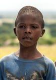 Mirada negra del muchacho Imagenes de archivo