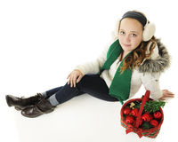 Mirada para arriba Christmastime Imagen de archivo libre de regalías