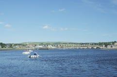 Mirada para arriba de tweed del río Berwick fotos de archivo libres de regalías