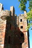Mirada para arriba la ruina de la torre del greenknowe imagen de archivo libre de regalías