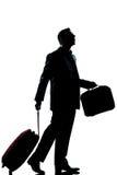 Mirada perdida hombre de las hojas de ruta (traveler) de asunto para arriba Fotografía de archivo