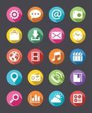 Mirada plana de la colección de los iconos del App Foto de archivo
