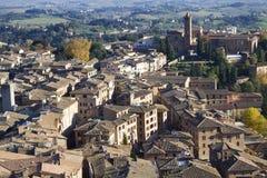 Mirada sobre Siena Foto de archivo