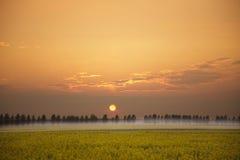 Mirada sobre un paisaje rural Fotos de archivo