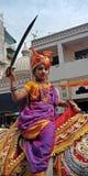 Mirada tradicional de Gudipadwa del festival indio Foto de archivo libre de regalías
