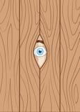 Mirada a través de la cerca stock de ilustración