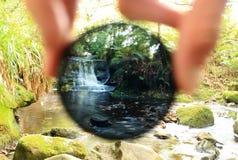 Mirada a través de un filtro Imágenes de archivo libres de regalías