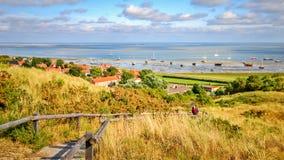 Mirada a través del mar de Wadden de Vlieland fotografía de archivo