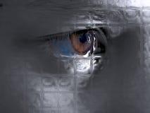 Mirada a través del vidrio Foto de archivo libre de regalías