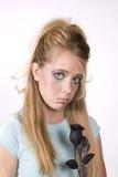 Mirada triste de la muchacha de la expresión Fotos de archivo libres de regalías