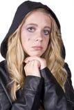 Mirada triste de la muchacha de la expresión Fotos de archivo
