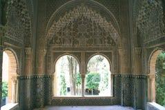 Mirador (Belvedere) av Daraxa, Alhambra, Granada, Spanien Arkivfoto