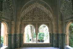Mirador (Belvedere) van Daraxa, Alhambra, Granada, Spanje Stock Foto