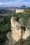 Mirador on cliffs in Ronda Royalty Free Stock Photography