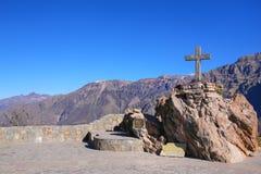 Mirador Cruz del Кондор в каньоне Colca, Перу Стоковые Изображения RF