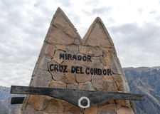Mirador Cruz del Кондор Стоковая Фотография