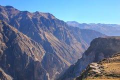 Mirador Cruz del Condor i den Colca kanjonen, Peru Royaltyfria Bilder