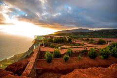 Mirador De Abrante na losu angeles Gomera wyspie Obrazy Royalty Free