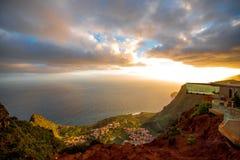 Mirador De Abrante na losu angeles Gomera wyspie Obraz Royalty Free