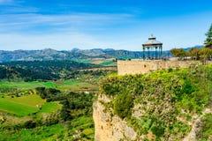Mirador de Aldehuela监视观点在朗达西班牙 免版税库存图片
