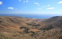 Mirador DE Haria (Gezichtspunt), Lanzarote, Canarische Eilanden. Royalty-vrije Stock Foto