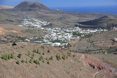 Mirador DE Haria (Gezichtspunt), Lanzarote, Canarische Eilanden. Stock Foto's