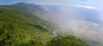 Mirador de Jinama和Mirador在耶罗岛,加那利群岛, Spai的de Izique 免版税图库摄影