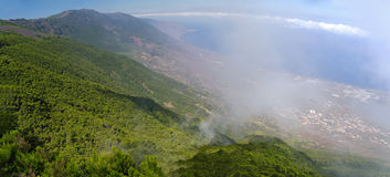 Mirador de Jinama and the Mirador de Izique on El Hierro, Canary Islands, Spai Royalty Free Stock Photography