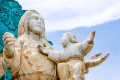 Mirador De La Virgin Monument 库存图片