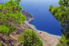 Mirador de Las Playas στη EL Hierro, Κανάριο νησί, Ισπανία Στοκ Εικόνες