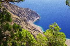 Mirador de Las Playas στη EL Hierro, Κανάριο νησί, Ισπανία Στοκ Φωτογραφίες