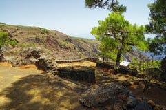 Mirador de Las Playas στο νησί EL Hierro, Κανάριο νησί, Ισπανία Στοκ Εικόνες