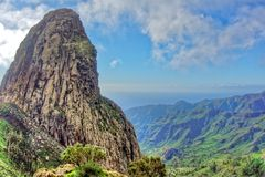 Mirador de Los Roques, La Gomera Stockbild