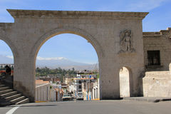 Mirador de Yanahuara in Arequipa, Peru Royalty Free Stock Photography