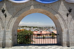Mirador de Yanahuara. Arequipa. Peru. Arequipa is the capital and largest city of the Arequipa Region and the second most populous city in Peru. Yanahuara stock photo