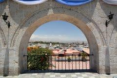 Mirador de Yanahuara _ peru Arkivfoto