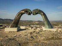 Mirador Del Bellveret, Xativa, Spanje stock afbeelding