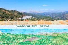Mirador del Genal Landscape. Algatocin, Andalusia. Royalty-vrije Stock Afbeeldingen