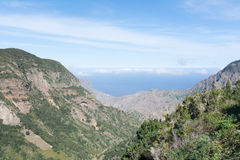Mirador del Reyo, Oceanview. Gomera, spain. Gomera is one of the most attractive canary islands, depending to spain. It is a vulcan island. you can reach Royalty Free Stock Photos