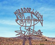 Mirador del Rio sign, Lanzarote. Royalty Free Stock Photography
