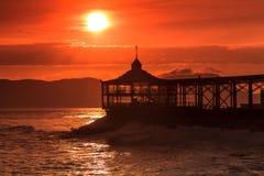 Mirador en la extremidad de la playa Fotografía de archivo libre de regalías