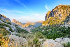 Mirador Es Colomer or Cap Formentor , Mallorca. Majorca wild and beautiful landscape of Mirador Es Colomer or Cap Formentor with coast and cliffs on the north Stock Photo