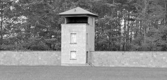 Mirador of the former Nazi concentration camp. SACHSENHAUSEN-ORANIENBURG, GERMANY  05 21: Mirador of the former Nazi concentration camp, now the Sachsenhausen Stock Photo